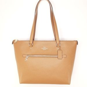Coach NWT Gallery Tote Bag Tan Leather Purse